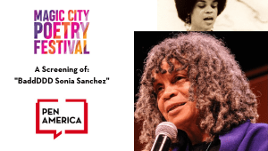Magic City Poetry Festival: Screening of BaddDDD Sonia Sanchez Header