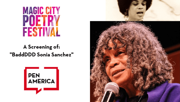 "Magic City Poetry Festival: A Screening of ""BaddDDD Sonia Sanchez"" Header"