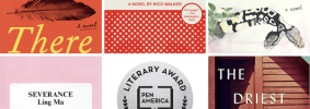book covers of the finalists for the PEN/Hemingway Award