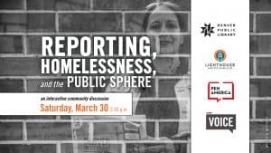 Reporting, Homelessness, and the Public Sphere event flyer