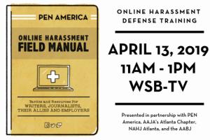 Online Harassment Defense Training on April 13, 2019