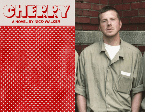 Cherry book cover and Nico Walker headshot