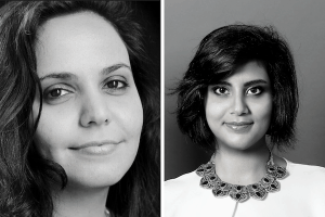 Headshots of Eman Al-Nafjan and Loujain Al-Hathloul