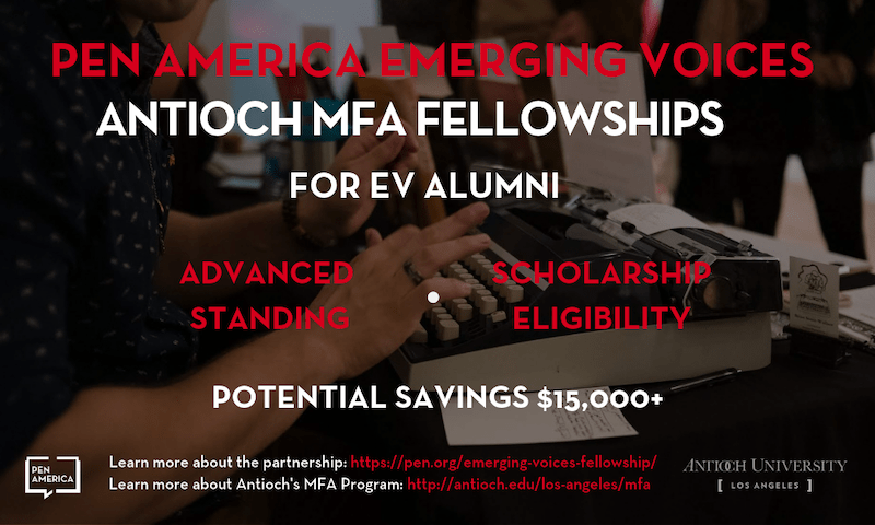 Emerging Voices Antioch MFA Fellowships for EV Alumni