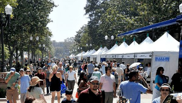 attendees at the LA Times Festival of Books