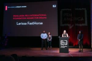 Larissa Fasthorse at the 2019 Awards Ceremony