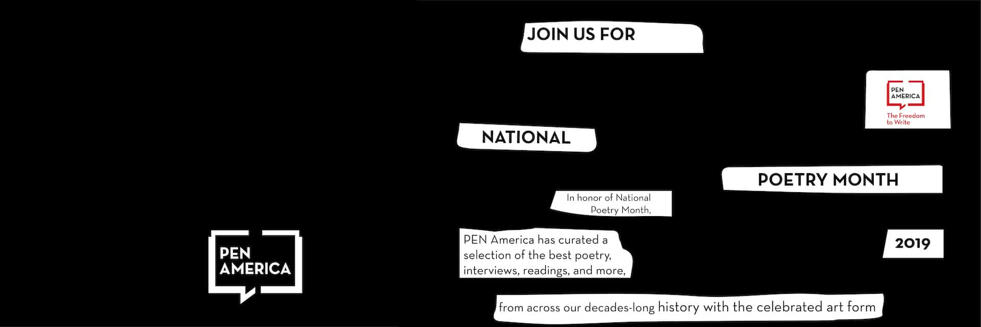 2019 National Poetry Month