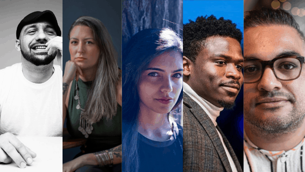 headshots of panelists at PEN Presents: The Good Immigrant