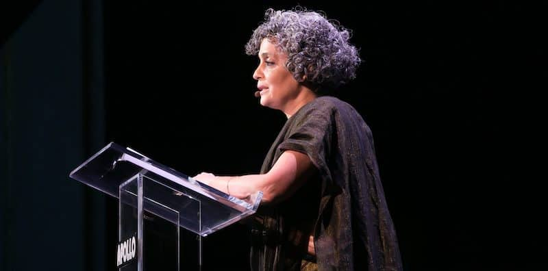 Arundhati Roy gives the Arthur Miller Freedom to Write Lecture at the 2019 World Voices Festival