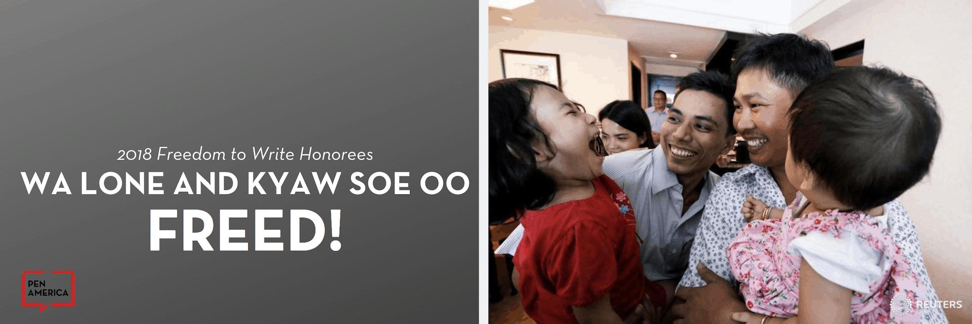 Wa Lone Kyaw Soe Oo Freed