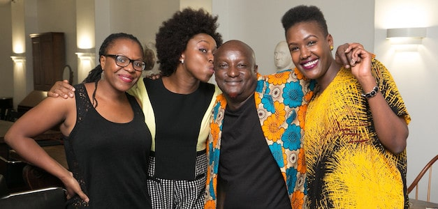 Binyavanga Wainaina and Chimamanda Adichie at the 2015 World Voices Festival