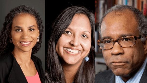 Image of speakers Randall L. Kennedy, Maya Wiley, and Nina McConigley