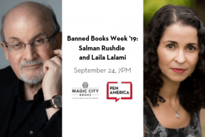 Banned Books Week 2019 Salman Rushdie And Laila Lalami