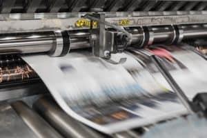 newspapers being printed