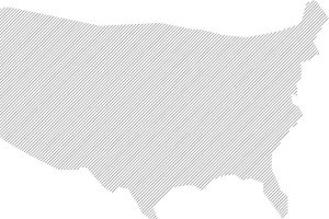 gray diagonal lines in the shape of the United States map