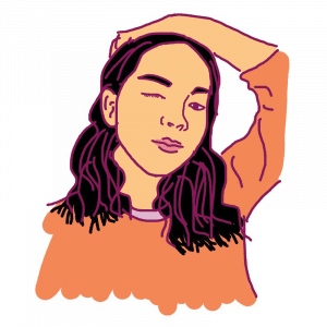 illustrated headshot of Sharon Tran