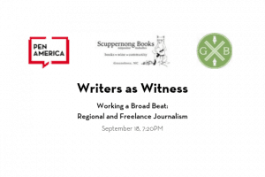 Writers As Witness Working A Broad Beat event icon