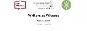 Writers As Witness Keynote