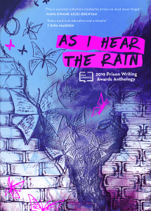 cover of the As I Hear the Rain prison writing anthology