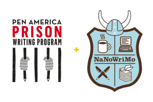 PEN America Prison Writing Program and NaNoWriMo logos side by side