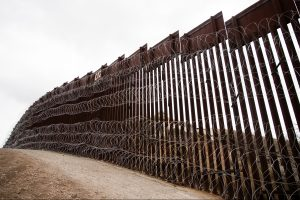 Layers of Constantinia are added to existing barrier infrastructure along the U.S. - Mexico border near Nogales, AZ, on February 4, 2019. Photo: Robert Bushell