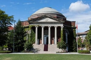 exterior of building at syracuse university