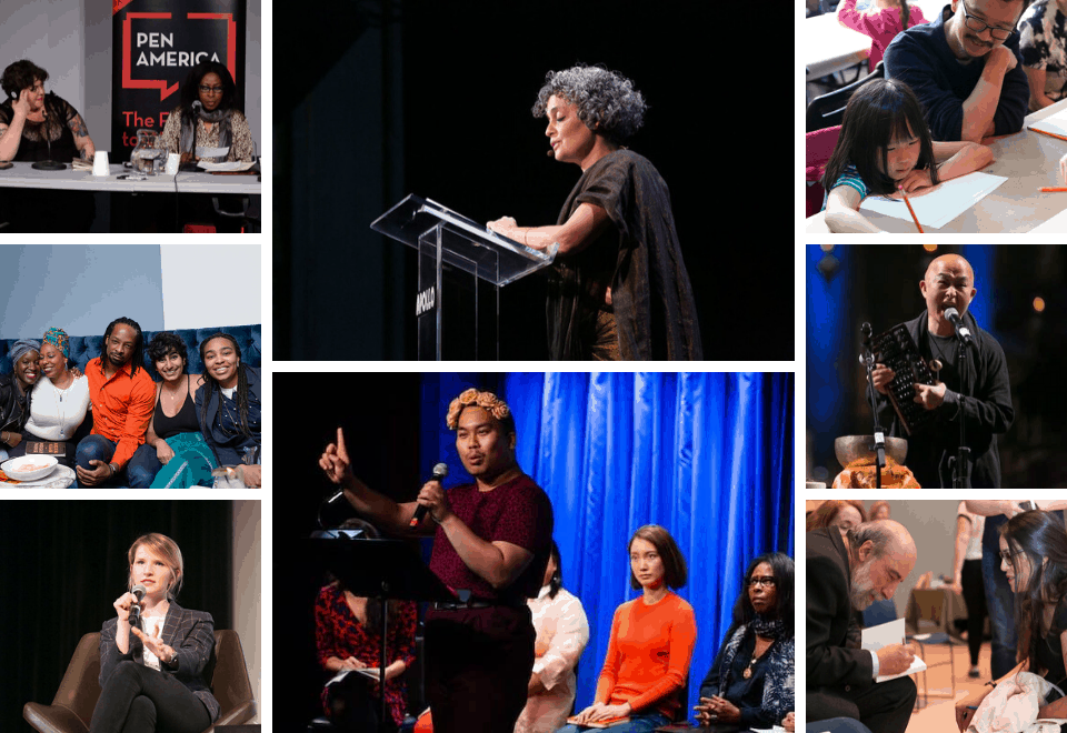 Photo collage of participants from the 2019 World Voices Festival