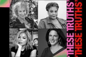 Margaret Atwood, Roxane Gay, and Jia Tolentino with Rebecca Traister