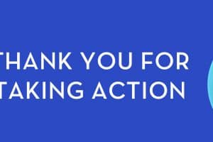 Thank you for taking action