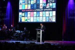 Seth Myers at the 2020 PEN America Literary Awards Ceremony