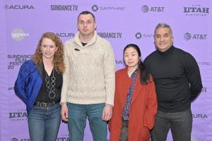 PEN America CEO Suzanne Nossel with Oleg Sentsov at the Sundance Film Festival