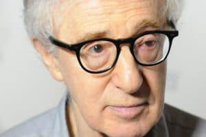 close up of woody allen