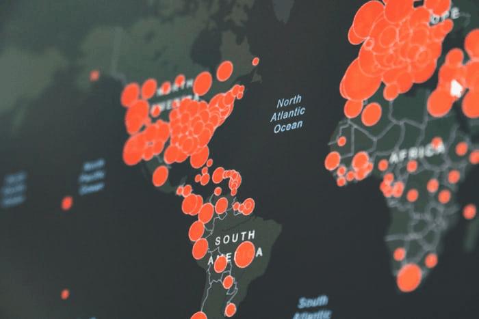 coronavirus global map