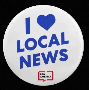 I love local news button