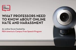 What Professors Need to Know About Online Hate and Harassment