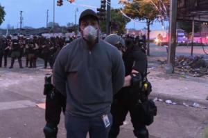 cnn reporter being arrested