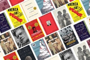 Asian American Voices reading list book covers