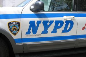 close up of NYPD vehicle