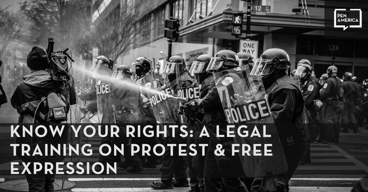 Know Your Rights: A Legal Training on Protest & Free Expression