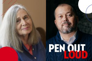 Marilynne Robinson and Alexander Chee headshots
