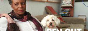 Claudia Rankine headshot with dog