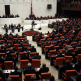 interior shot of turkey's parliament