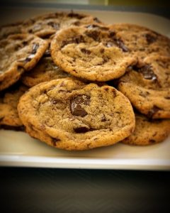 Finished chewy chocolate chunk cookies