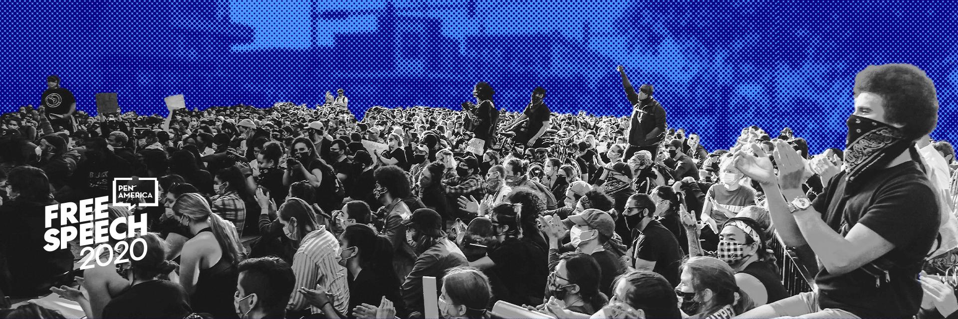 Free Speech 2020 banner