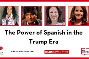 The Power of Spanish in the Trump Era: headshots and logos