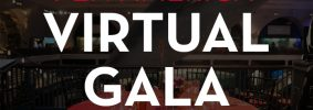 """Table backdrop with the following words in front: """"PEN America Virtual Gala: Tuesday, December 8, 2020"""""""