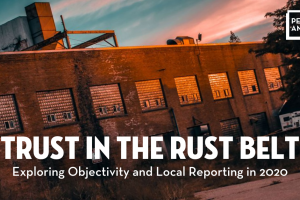 """Trust in the Rust Belt"" event image sunset warehouse"