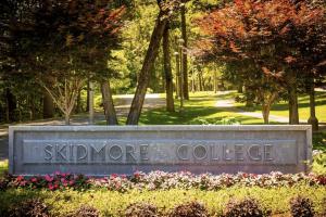 sign reading skidmore college
