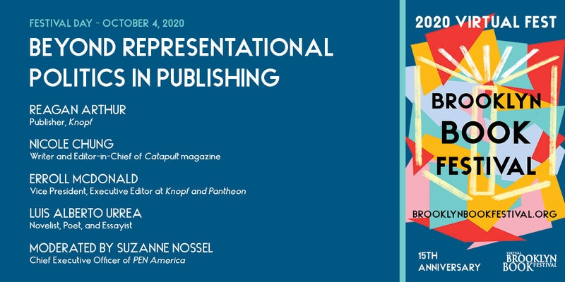 Brooklyn Book Festival event cover: participants and festival artwork