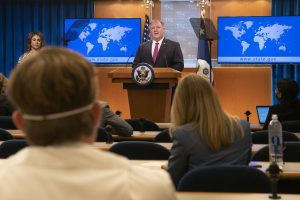 pompeo delivering remarks to the press